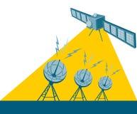 δορυφορικό στέλνοντας σ Στοκ φωτογραφία με δικαίωμα ελεύθερης χρήσης