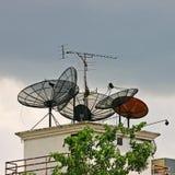 δορυφόρος πιάτων Στοκ Φωτογραφίες