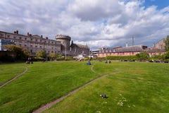 Δουβλίνο Castle κατά τη διάρκεια μιας ευχάριστης ημέρας Στοκ Εικόνα