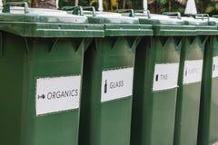 Δοχεία ανακύκλωσης πλεονεξίας Στοκ Φωτογραφία