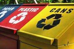 δοχεία ανακύκλωσης στοκ φωτογραφίες