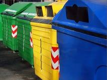 δοχεία ανακύκλωσης Στοκ φωτογραφίες με δικαίωμα ελεύθερης χρήσης