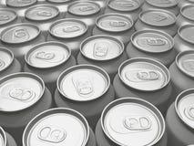 Δοχεία ποτών σε μια σειρά Στοκ Φωτογραφίες