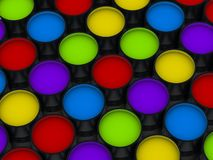 Δοχεία χρωμάτων χρώματος Στοκ Φωτογραφία