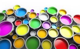 Δοχεία χρωμάτων Στοκ εικόνα με δικαίωμα ελεύθερης χρήσης