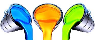 Δοχεία χρωμάτων Στοκ Φωτογραφίες