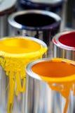 Δοχεία χρώματος Στοκ Εικόνα