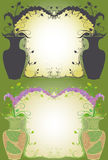 Δοχείο και σκιά λουλουδιών Στοκ Εικόνες