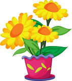 δοχείο λουλουδιών διανυσματική απεικόνιση