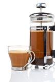 δοχείο φλυτζανιών καφέ στοκ φωτογραφία