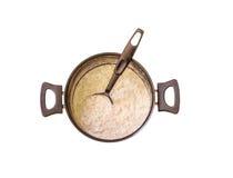 Δοχείο oatmeal κορυφαία όψη Στοκ εικόνες με δικαίωμα ελεύθερης χρήσης