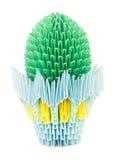 δοχείο origami κάκτων Στοκ φωτογραφία με δικαίωμα ελεύθερης χρήσης