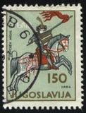 Δούκας Hrvoje στην πλάτη αλόγου Στοκ εικόνες με δικαίωμα ελεύθερης χρήσης
