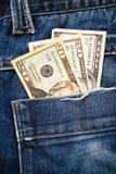 Δολάρια στην τσέπη Στοκ φωτογραφία με δικαίωμα ελεύθερης χρήσης