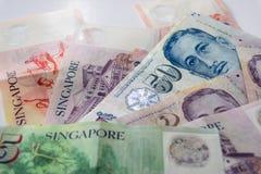 Δολάρια της Σιγκαπούρης η βασική νομισματική μονάδα της Σιγκαπούρης Στοκ Εικόνες
