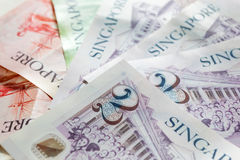 Δολάρια της Σιγκαπούρης η βασική νομισματική μονάδα της Σιγκαπούρης Στοκ φωτογραφία με δικαίωμα ελεύθερης χρήσης
