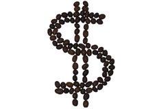 Δολάριο από τα φασόλια καφέ Στοκ Εικόνες