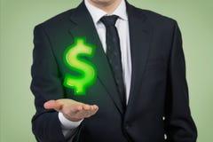 Δολάριο εκμετάλλευσης επιχειρηματιών στοκ εικόνες