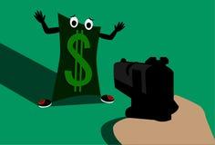 Δολάριο που φοβάται στοκ εικόνες