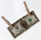 Δολάριο στην καρφίτσα Στοκ Εικόνα