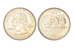Δολάριο τετάρτων που απομονώνεται Στοκ Φωτογραφίες