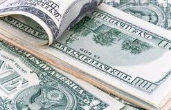 Δολάριο, το αμερικανικό νόμισμα, υπόβαθρο στοκ εικόνες