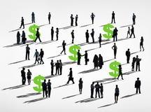Δολαρίων πράσινη έννοια συνεργασίας επιχειρηματικής κοινότητας οικονομική Στοκ Εικόνες