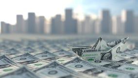 Δολ ΗΠΑ κεφαλαίου επιχειρηματικού κινδύνου Στοκ Φωτογραφία