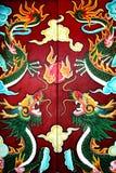 δράκοι πορτών που χρωματίζ&o Στοκ εικόνα με δικαίωμα ελεύθερης χρήσης