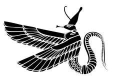 Δράκος - δαίμονας της αρχαίας Αιγύπτου Στοκ φωτογραφία με δικαίωμα ελεύθερης χρήσης