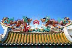 Δράκος Κίνα στο ναό Στοκ Φωτογραφία