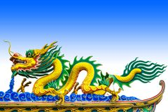 Δράκος κινέζικα στη στέγη στοκ φωτογραφία