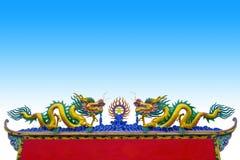 Δράκος κινέζικα στη στέγη στοκ εικόνες