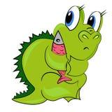 Δράκος κινούμενων σχεδίων. μωρό δεινοσαύρων Στοκ Εικόνες