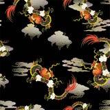 Δράκος με τα σύννεφα απεικόνιση αποθεμάτων