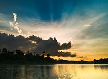 δράκος που τρώει τον ήλιο Στοκ Φωτογραφία