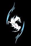 δράκος που χρωματίζει wal διανυσματική απεικόνιση
