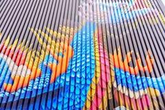 Δράκος που χρωματίζεται στην πλευρά της οικοδόμησης Στοκ Φωτογραφίες