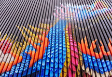 Δράκος που χρωματίζεται στην πλευρά της οικοδόμησης Στοκ εικόνα με δικαίωμα ελεύθερης χρήσης