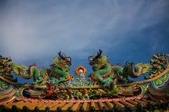 Δράκος στον κινεζικό ναό Στοκ φωτογραφία με δικαίωμα ελεύθερης χρήσης