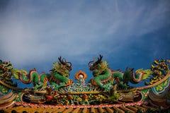 Δράκος στον κινεζικό ναό Στοκ εικόνα με δικαίωμα ελεύθερης χρήσης
