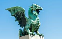 Δράκος του Λουμπλιάνα, σύμβολο πόλεων, Σλοβενία Στοκ Εικόνες