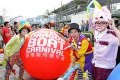 δράκος Χογκ Κογκ καρναβαλιού βαρκών του 2012 Στοκ Εικόνες