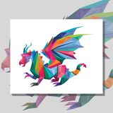 Δράκος Origami απεικόνιση αποθεμάτων