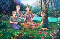 δράμα Ταϊλανδός χορού Στοκ Φωτογραφία