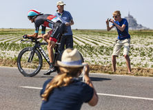 Δράση γύρου de Γαλλία Στοκ Εικόνες