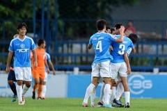 Δράση στην ταϊλανδική Premier League στοκ εικόνα με δικαίωμα ελεύθερης χρήσης