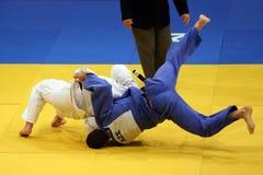 Δράση τζούντου στοκ φωτογραφία