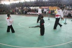 Δράση Silat Pencak Στοκ Εικόνες