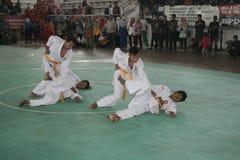Δράση Silat Pencak Στοκ Φωτογραφία